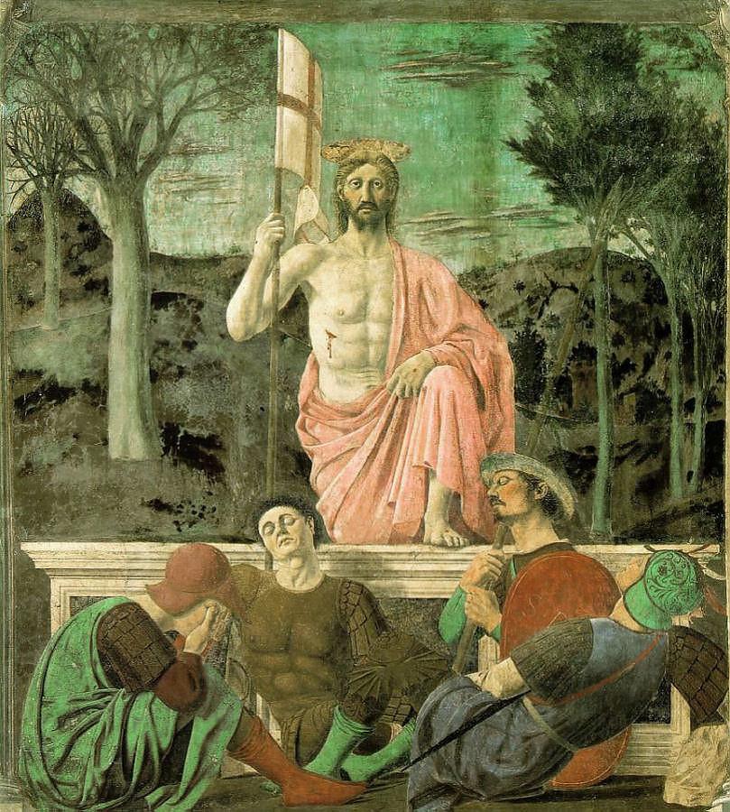 Piero della Francesca, opstanding, San Sepolcro Italië