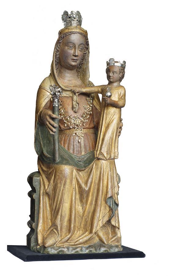 Maria van Renkum op haar eigen plaats in de OL Vrouw ten Hemelopneming-kerk. Het miraculeuze beeld wordt al in een geschrift van het jaar 1380 genoemd.