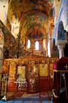 Interieur van de kerk van Pantanassa, te Mystras.